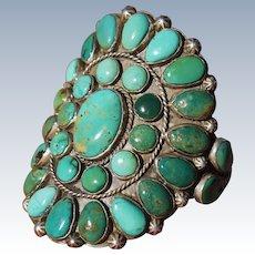 Vintage Large Cluster Bracelet