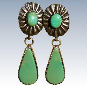 Vintage Turquoise Drop Earrings