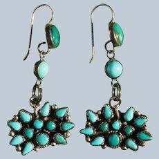 Vintage Turquoise Zuni Earrings