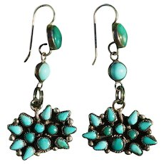 Vintage Turquoise Zuni Earrings