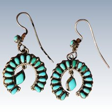 Vintage Turquoise Naja Earrings