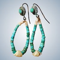 Vintage Turquoise Jocla Earrings