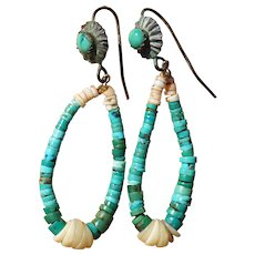 Vintage Turquoise Jocla Earrings
