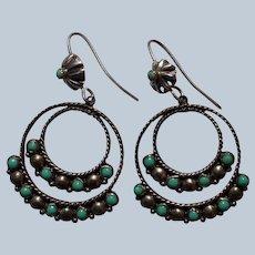 Vintage Zuni Hoop Earrings