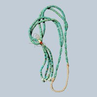 Vintage Turquoise Heishi Necklace With Jacla