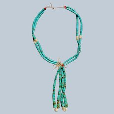 Vintage Santo Domingo Turquoise Jacla Necklace