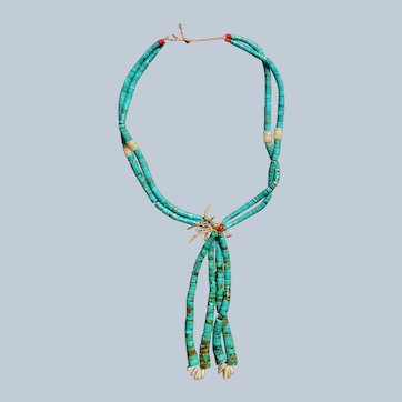 Vintage Santo Domingo Turquoise Jacla Necklace