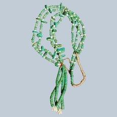 Santo Domingo Cerrillos Turquoise Tab Necklace With Jacla