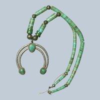 Vintage Naja Turquoise Heishi Necklace