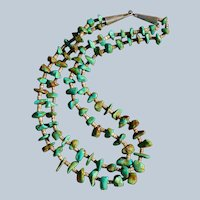 Old Pawn Royston Turquoise Nugget Necklace