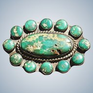 Vintage Cerrillos Turquoise Pin