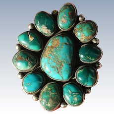 Vintage Turquoise Pin/Pendant