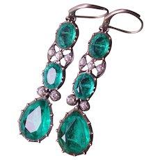 Antique Victorian Paste Earrings