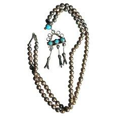 Vintage Turquoise Pendant Necklace