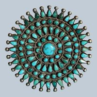 Vintage Turquoise Petit Point Pin/Brooch