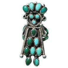 Vintage Turquoise Kachina Doll Ring