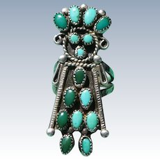 Vintage Turquoise Kachina Doll Ring