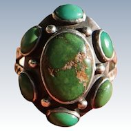 Vintage Green Turquoise Ring