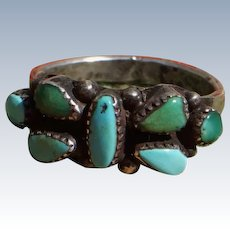 Vintage Turquoise Butterfly Ring