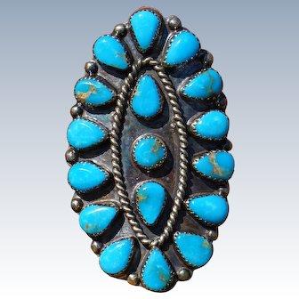 Vintage Navajo Turquoise Ring