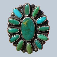 Vintage Turquoise Cluster Ring