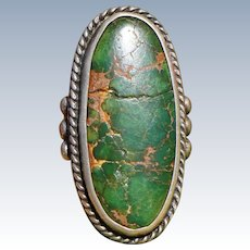 Vintage Cerrillos Turquoise Ring