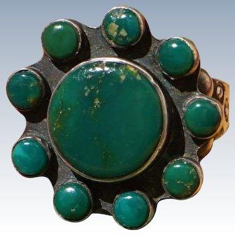 Green Turquoise Satellite Ring