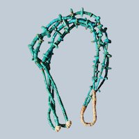 Santo Domingo Turquoise Tab Necklace With Jacla