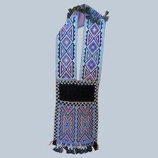 19th Century Potawatomi Indian Beaded Bandolier Bag