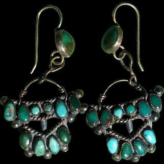 Old Zuni Watchband Earrings