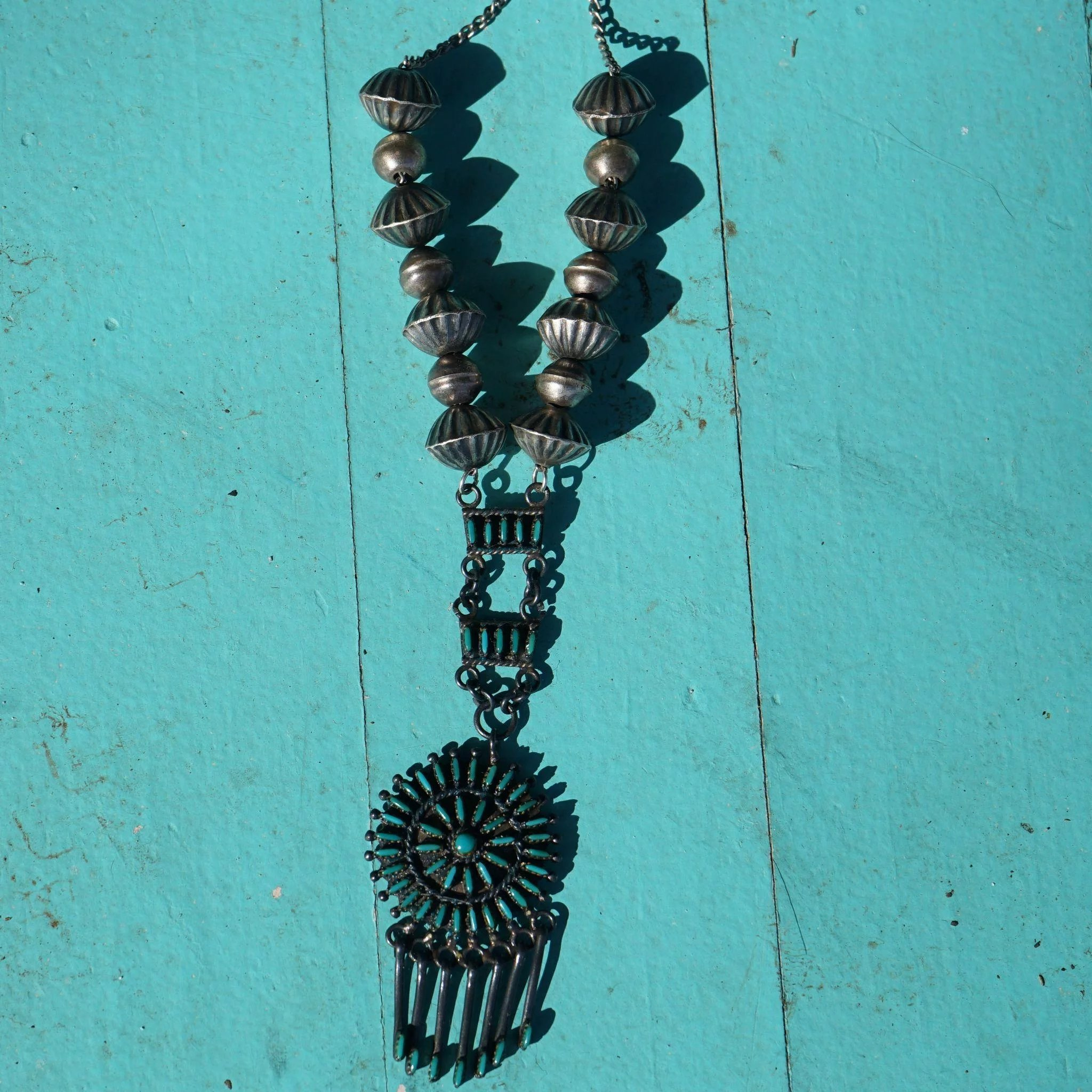 ultra necklace quincy pin panteah point pendant purchased and the fine museum micro by was zuni in made from rosemary this turquoise petit heard