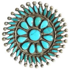 Small Vintage Turquoise Pin