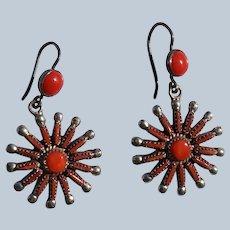 Vintage Coral Zuni Earrings