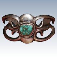 Navajo Sandcast Turquoise Bracelet