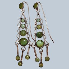 Early Classic Period Navajo/Pueblo Turquoise Earrings