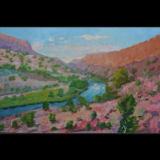 St. George Landscape Painting by Sawdust Festival Artist Rachel Uchizono