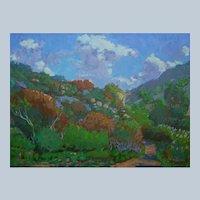 Laguna Canyon Painting By Sawdust Festival Artist Rachel Uchizono