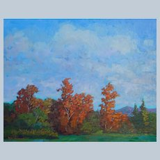 Virginia Landscape Painting by Rachel Uchizono