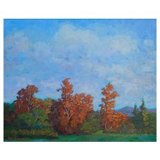 Virginia Landscape Painting by Rachel Uchizono