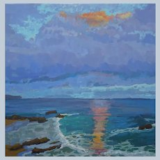 Laguna Sunset Painting by Rachel Uchizono