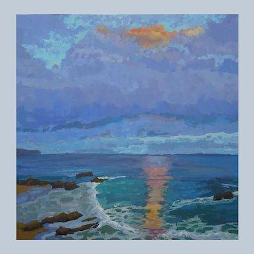 Laguna Sunset Painting by Rachel Uchizono