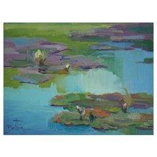 Water Lily Painting By LPAPA Signature Member Cynthia Britain