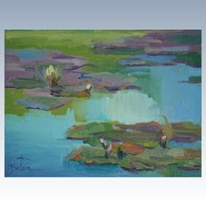 Water Lily Painting By LPAPA Signature Member Cynthia Britain