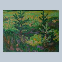 Russian Impressionist Plein Air Painting By Solodovnikov