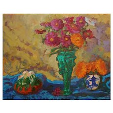 Floral Painting by Sawdust Festival Artist Rachel Uchizono