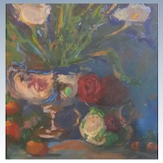 Lilies and Roses Floral Still Life