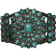 Large Navajo Teardrop Cluster Bracelet