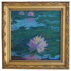 Water Lily Painting by Rachel Uchizono