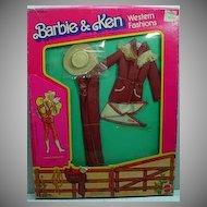 Mattel NRFB Barbie Western Fashion, Western Elegance #3579 from 1981.