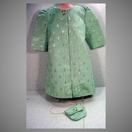 Beautiful, evening Coat with matching Purse for Larger Doll..